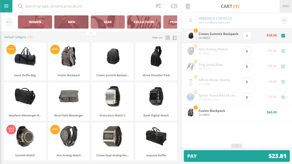 magento pos review: sell screen connectpos
