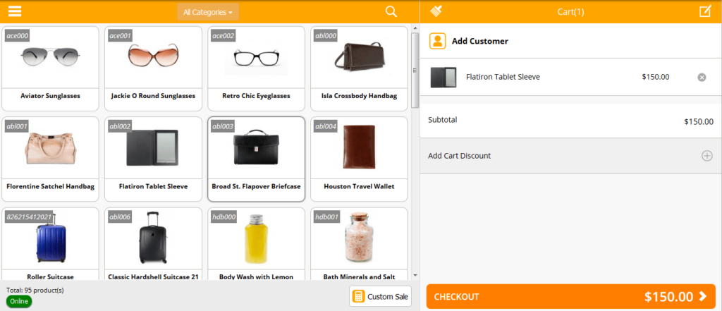 Magento POS review: Sell Screen of Magestore POS