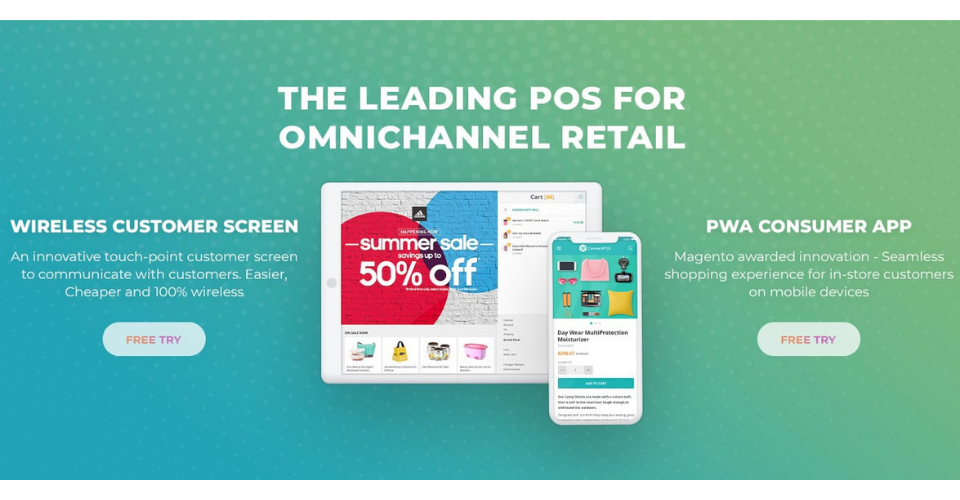 Free try PWA and Customer Screen