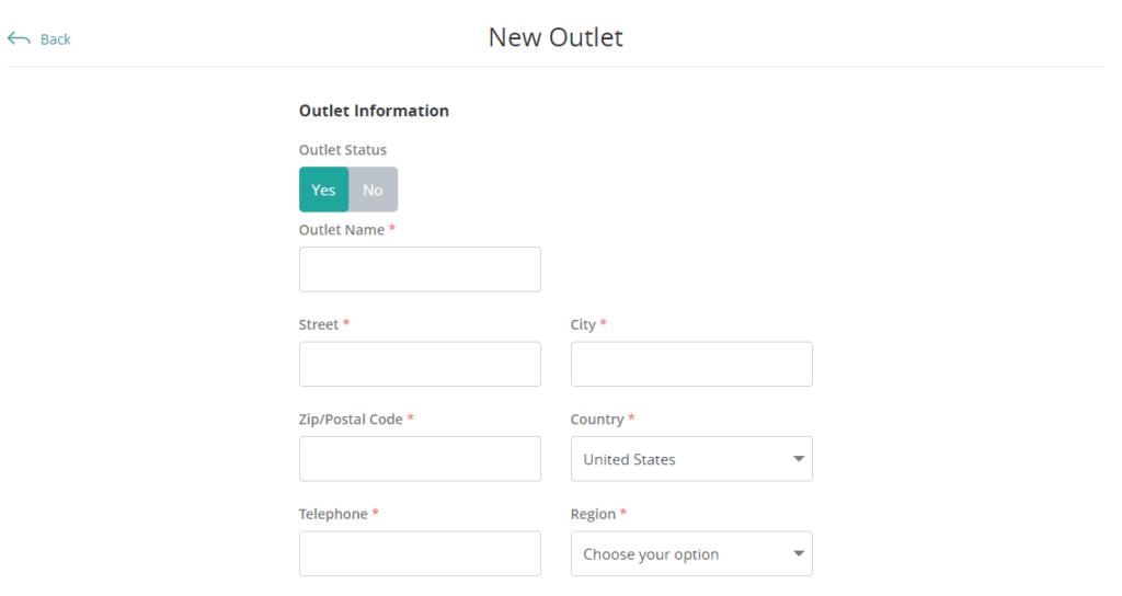 Outlet Information