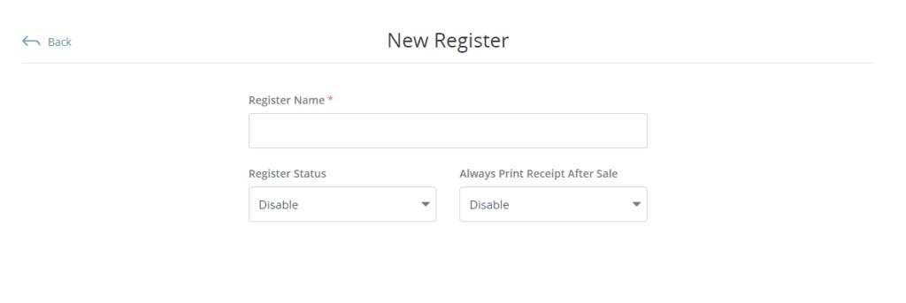 New Register