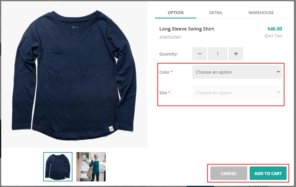 Adding variable products to cart