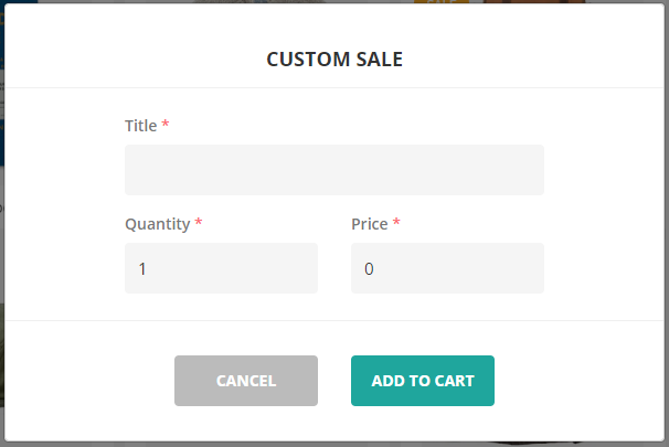 ConnectPOS custom sale