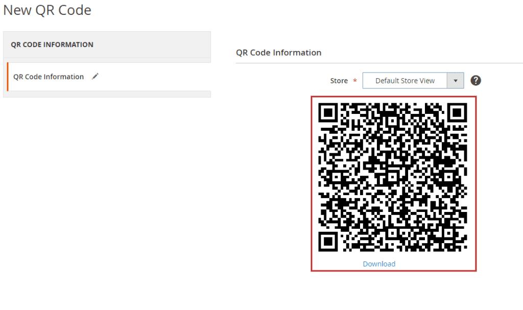 magento new qr code