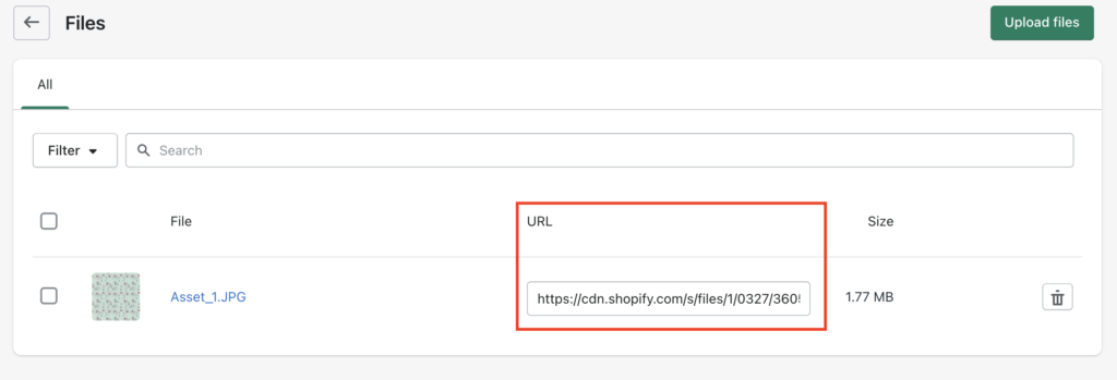 Your Logo's URL in Shopify CDN