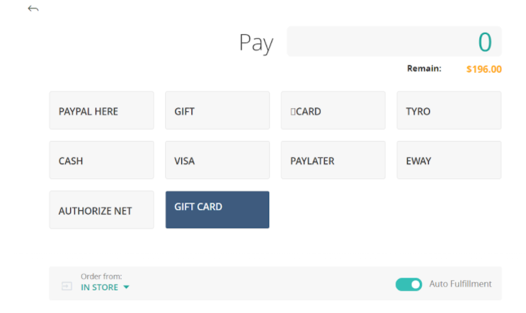Gift cards integration in ConnectPOS