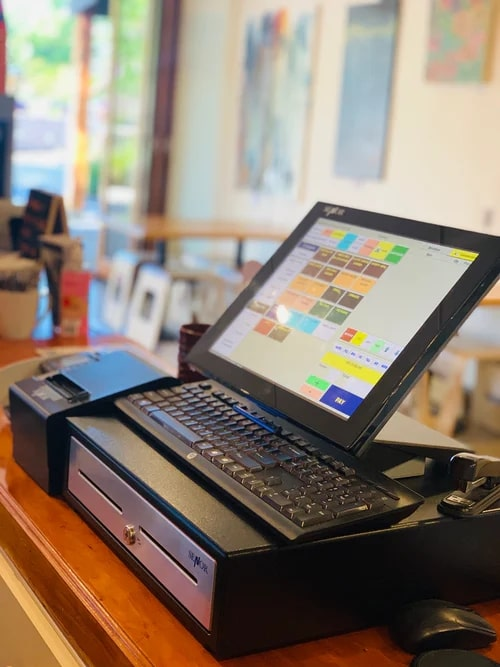 point of sale: cash register