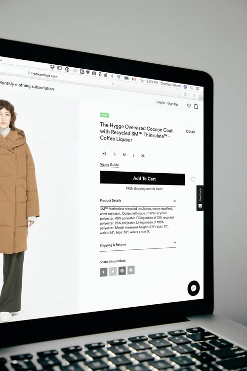 point of sale: online
