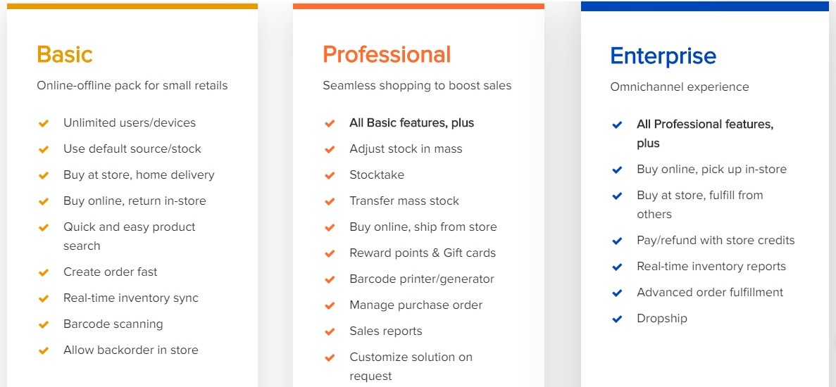 Get a quote to receive Magestore POS pricing plans