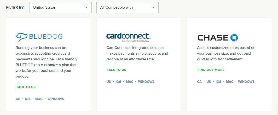 Vend POS payment integration