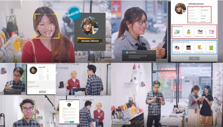 AI facial recognition feature in ConnectPOS