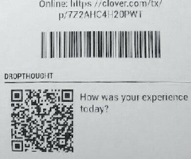 Custom receipt with Clover POS