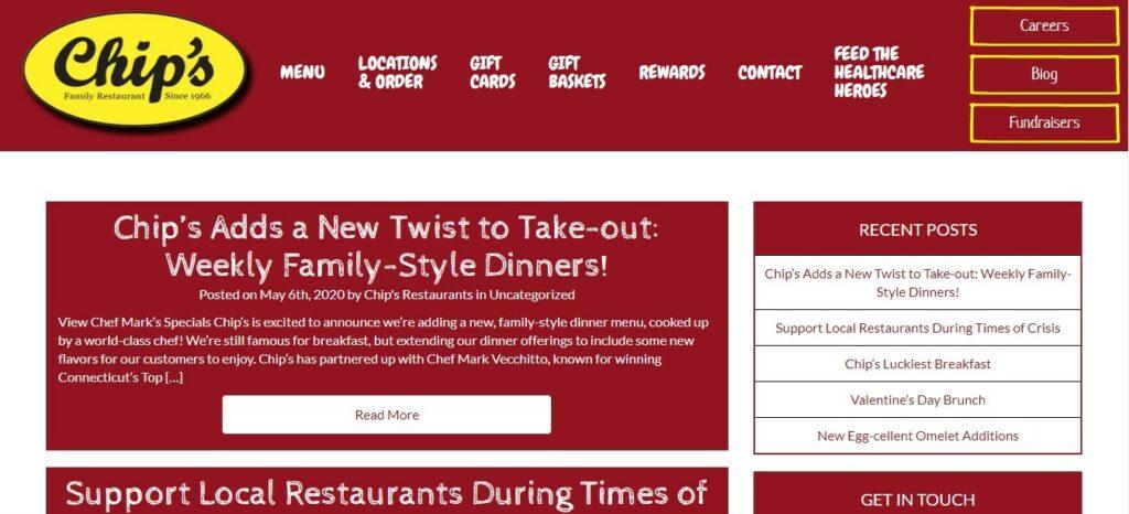 Chip's Restaurant's blog