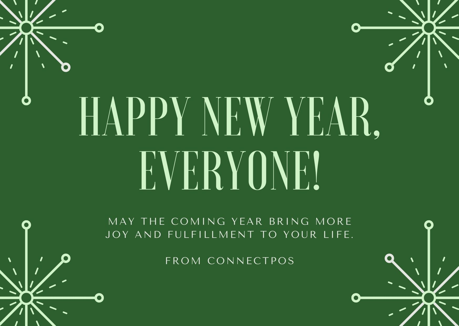 Happy New Year from ConnectPOS
