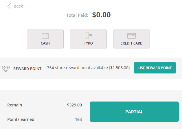 Manage reward points with ConnectPOS