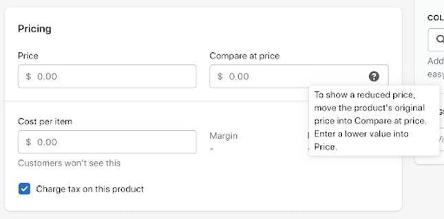 Adding Product On Shopify