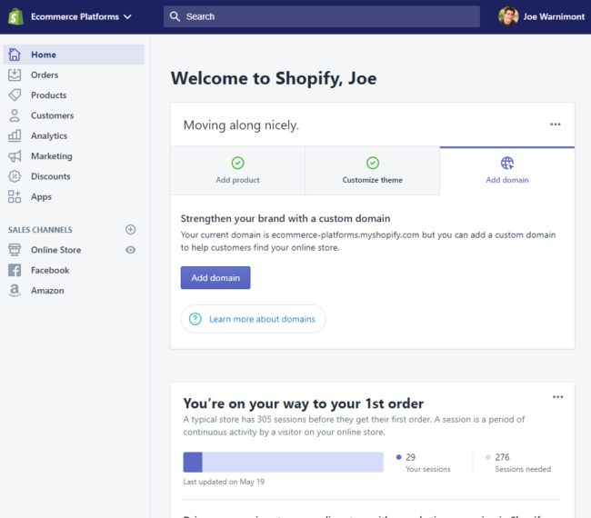 The Ease of Use in Shopify