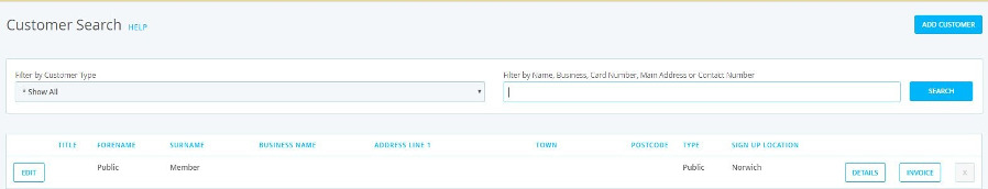 Easy customer search in Epos Now