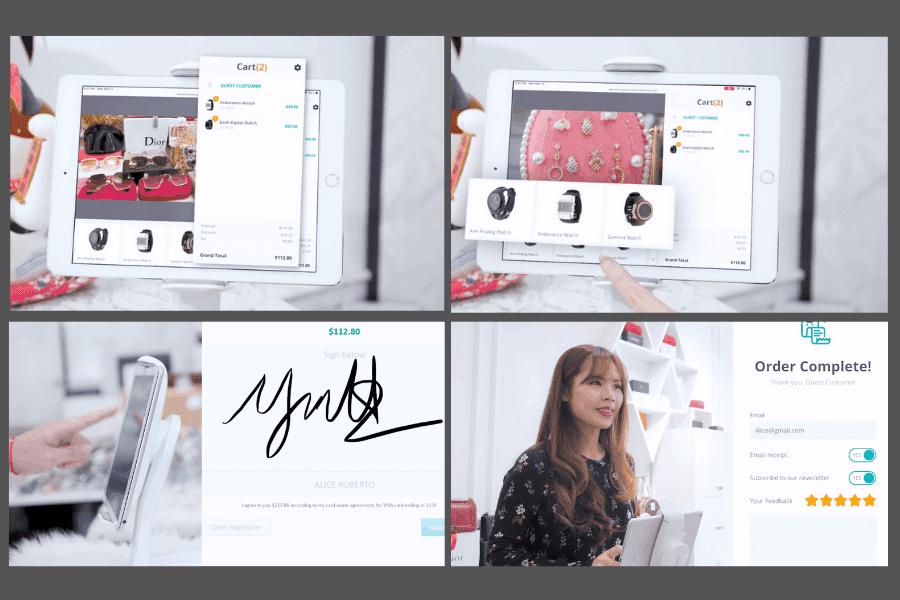 ConnectPOS interactive customer screen