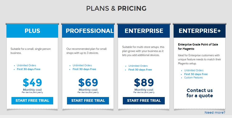 Ebizmarts pricing plan