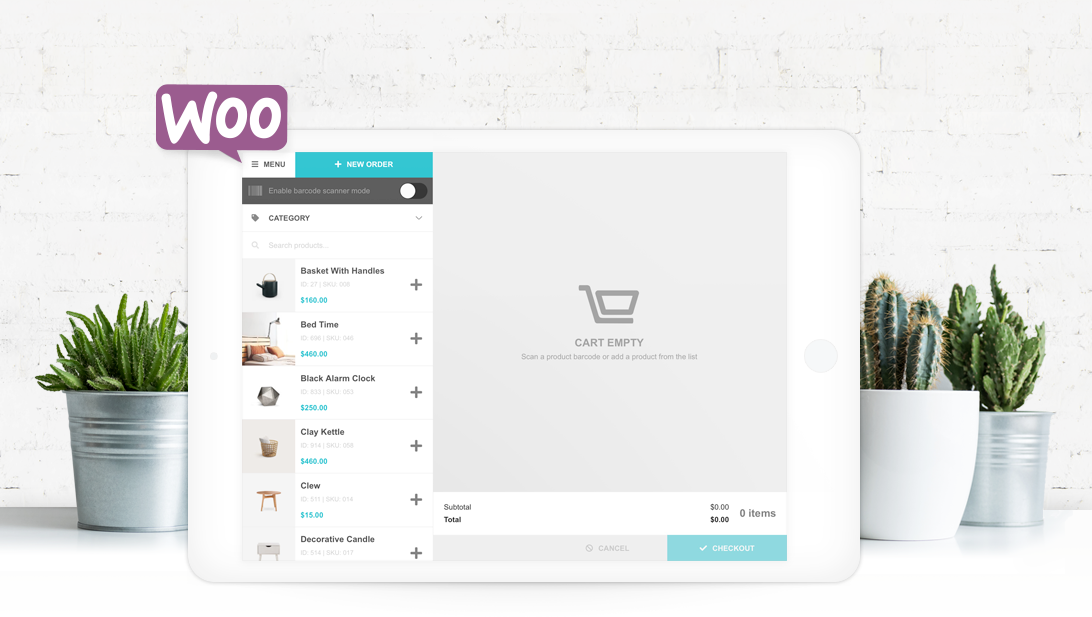 FooSales POS fully integrates with WooCommerce