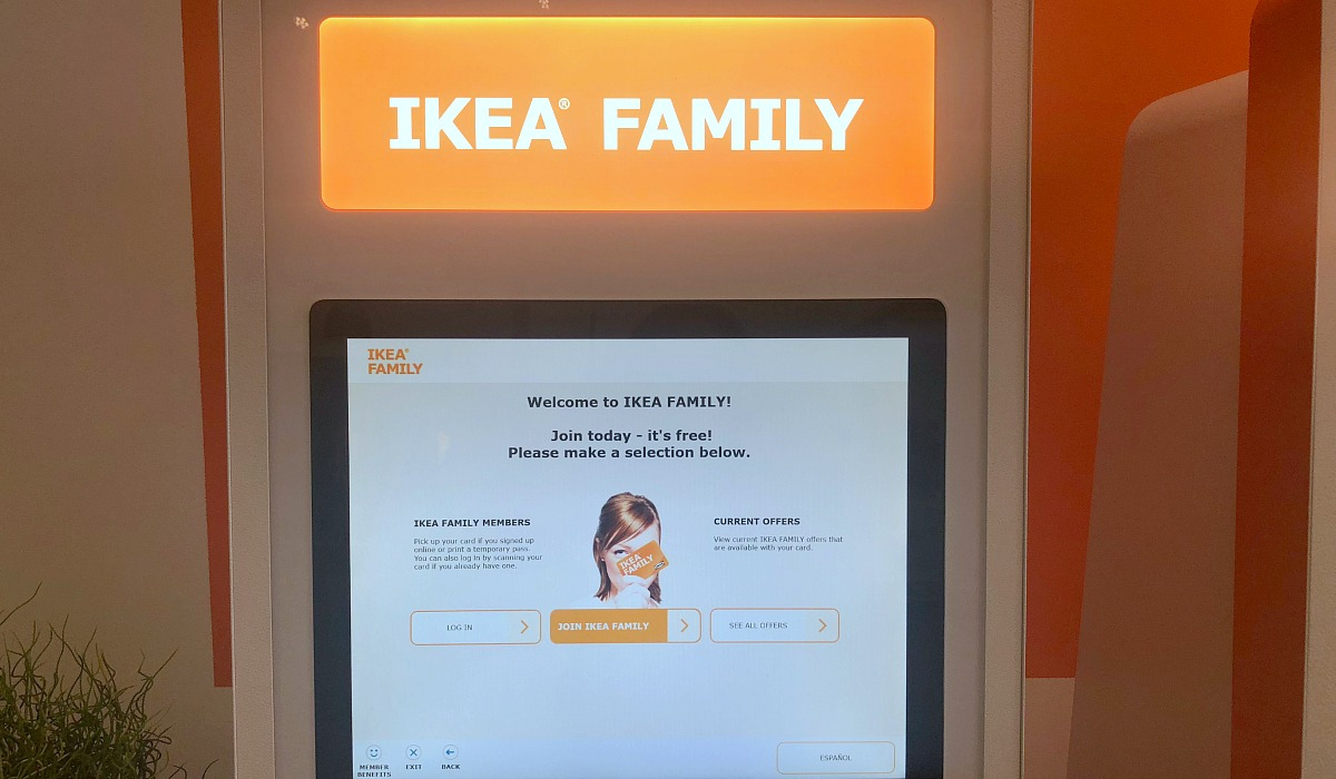 IKEA is offering a customer loyalty program called IKEA Family. Consumers can get discounts and other benefits after signing up. At store kiosks or online, consumers enter some basic information and they can ask to receive the annual catalog.