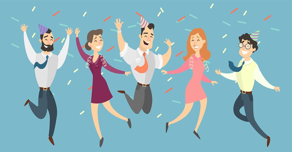 Celebrate with customers