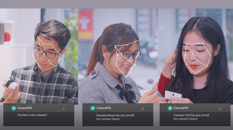 AI facial recognition in POS