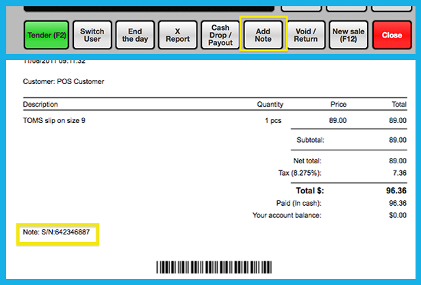POS receipts customization in Erply