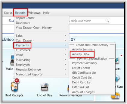 Reports in QuickBooks POS