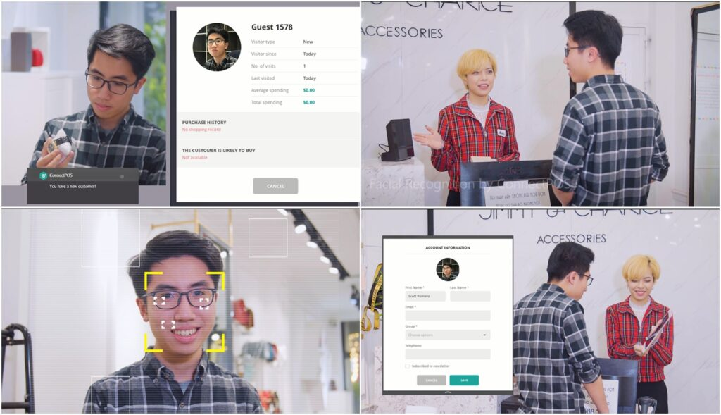 Identify new and old customers with ConnectPOS AI facial recognition