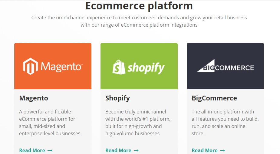 ConnectPOS ecommerce integrate