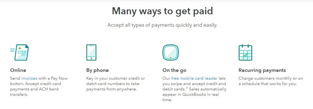 QuickBooks payment system
