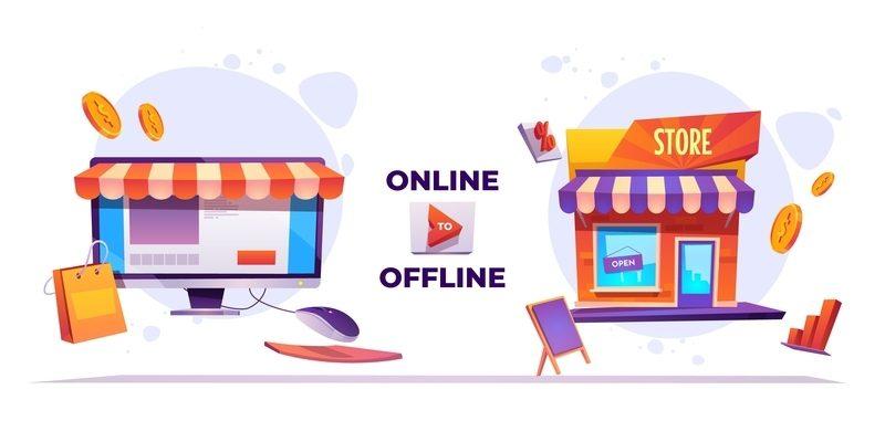 online and offline stores