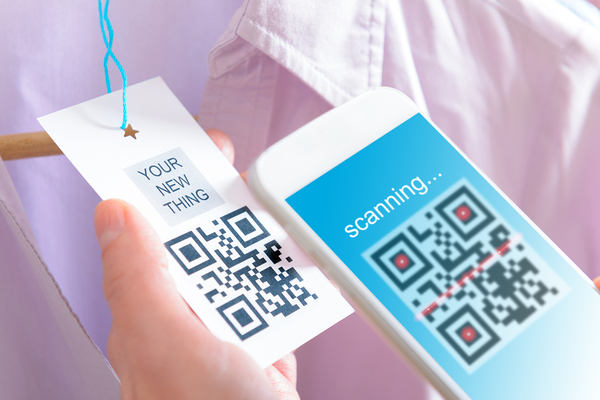 Scanning QR codes to enter the loyalty program