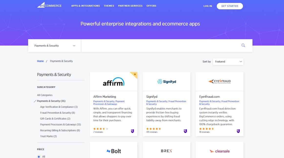 BigCommerce Payment Apps