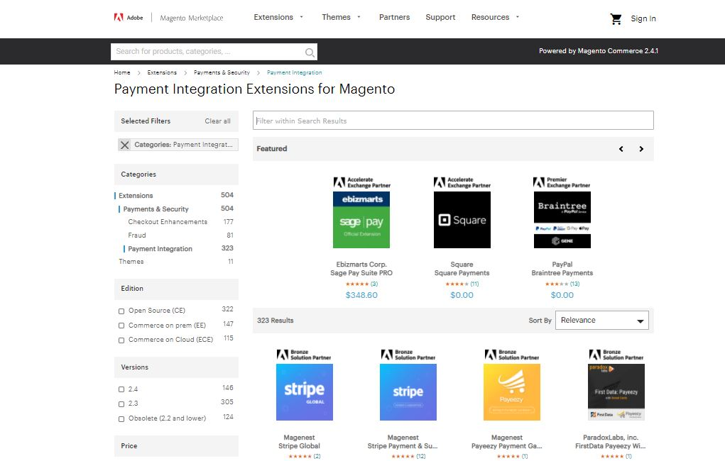 Magento payment