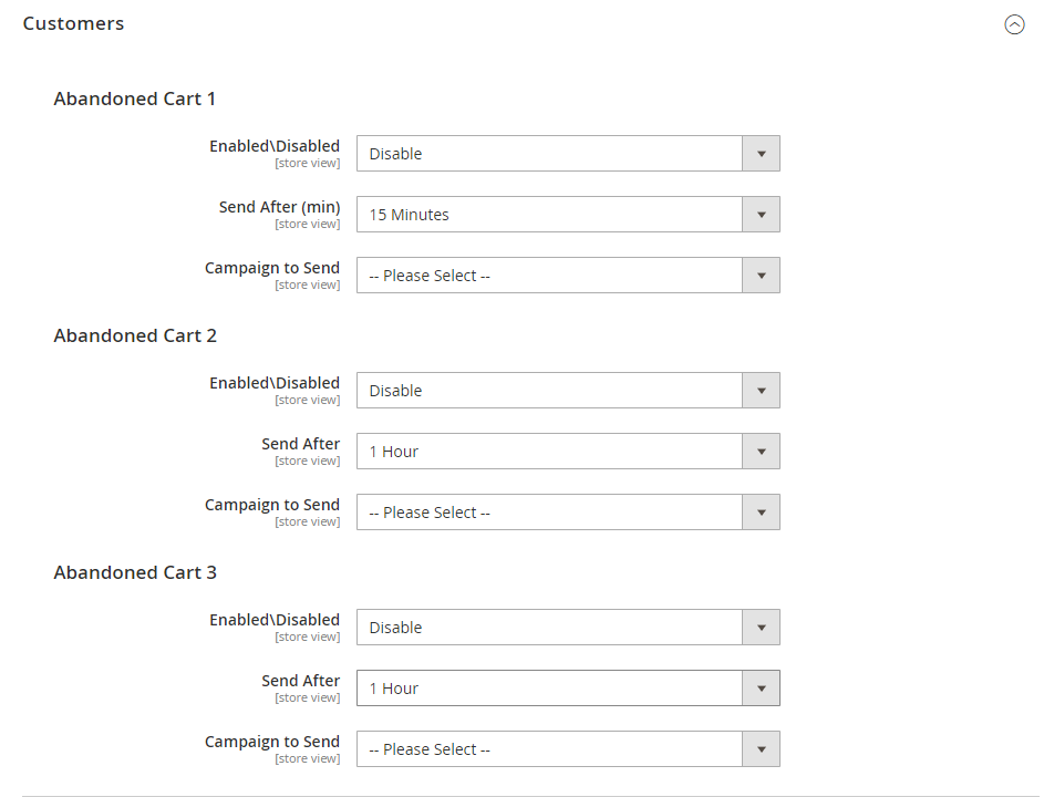 abandoned cart recovery on Magento