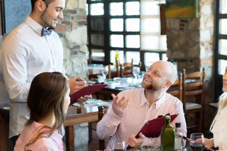 In restaurants, a front-of-house staff member enters customers' orders into the POS system