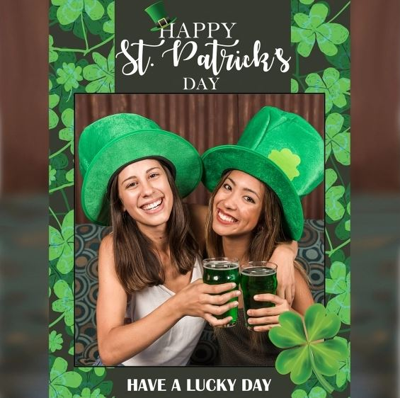 photo booth for St. Patrick's Day ideas