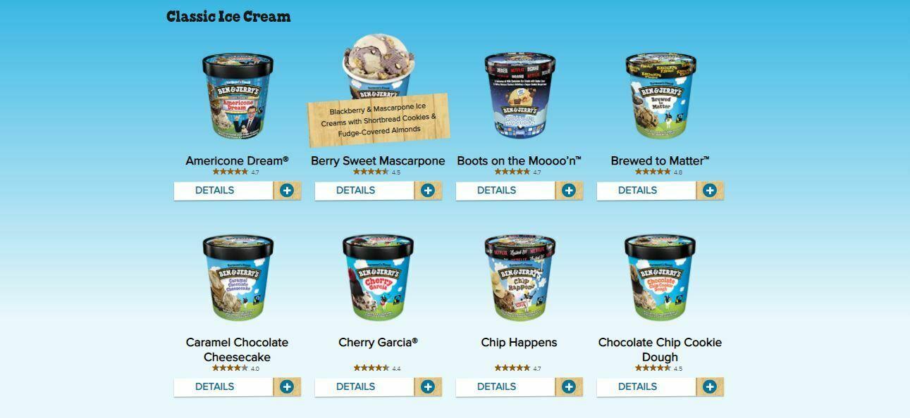 Ben & Jerry's website
