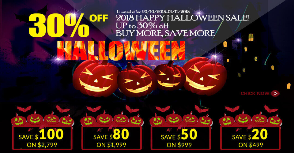 Halloween store holiday flash sale