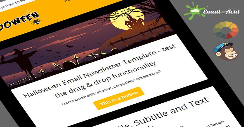 Halloween email newsletter