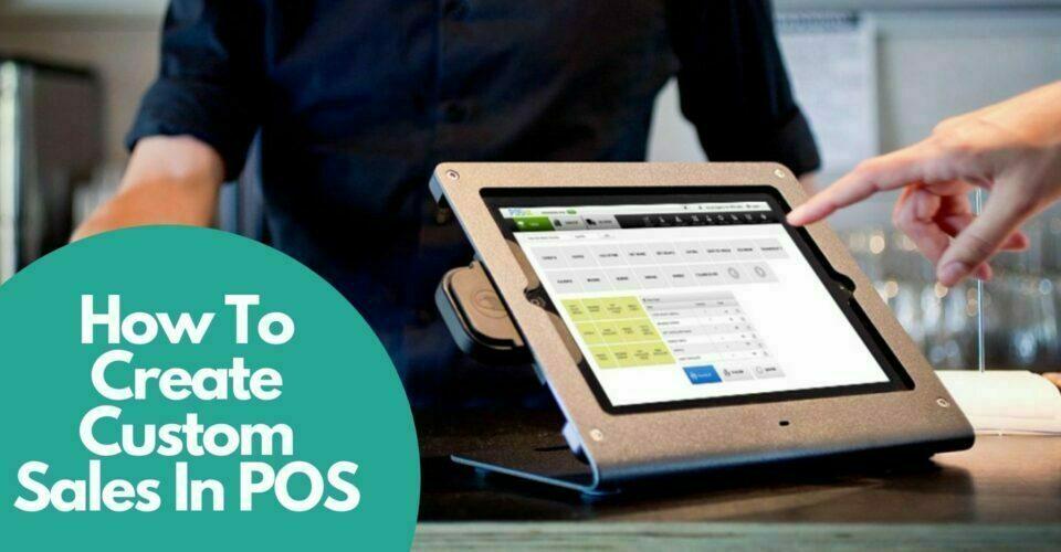 Create custom sales in POS