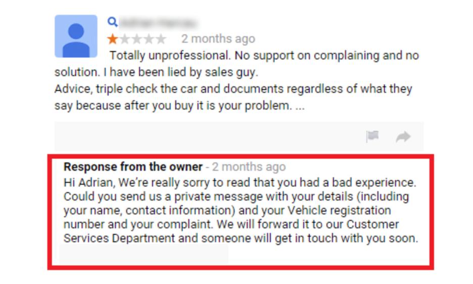 respond to negative reviews