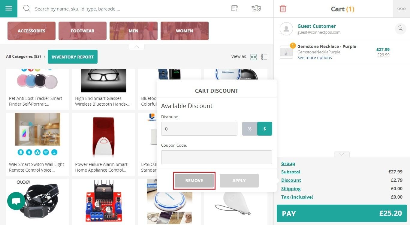 Remove discount
