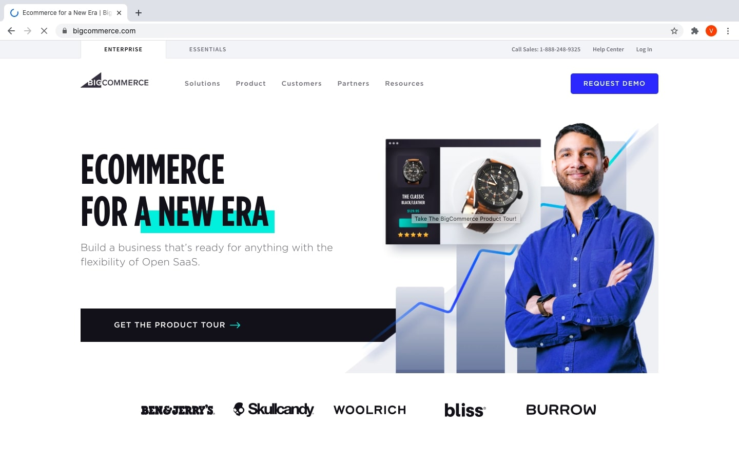 BigCommerce interface