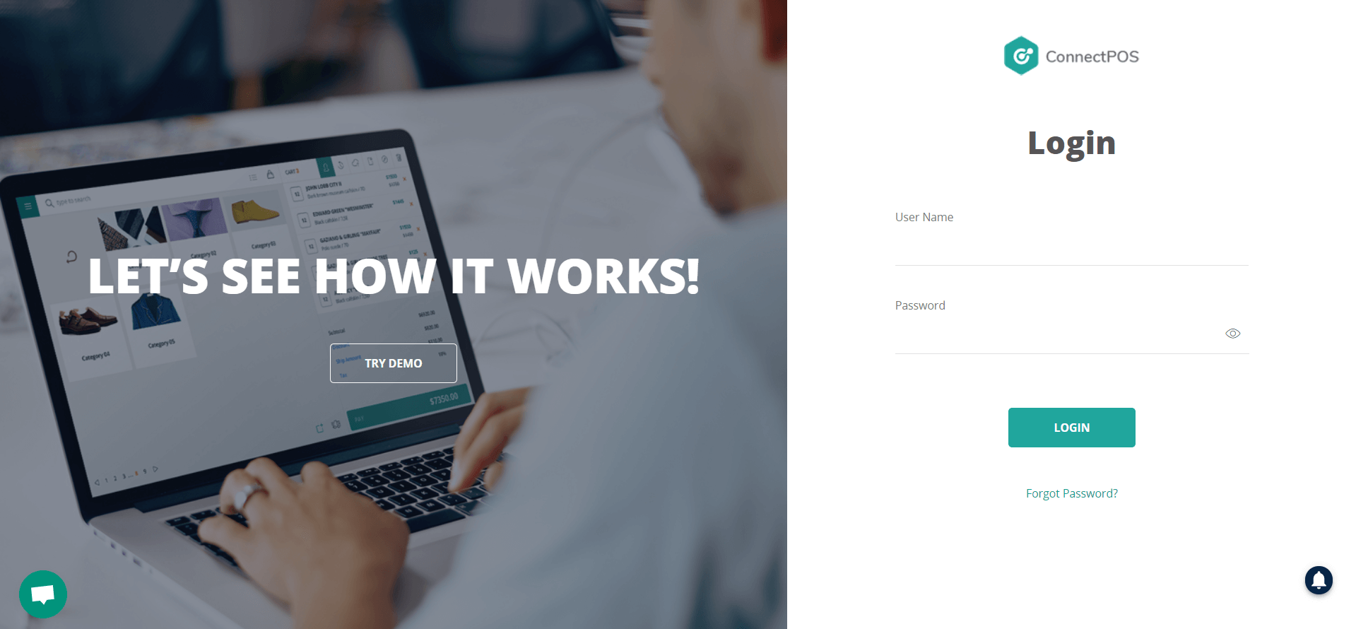 log in to connectpos