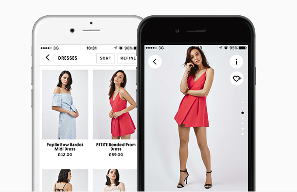 topshop on the go app - omnichannel business in UK