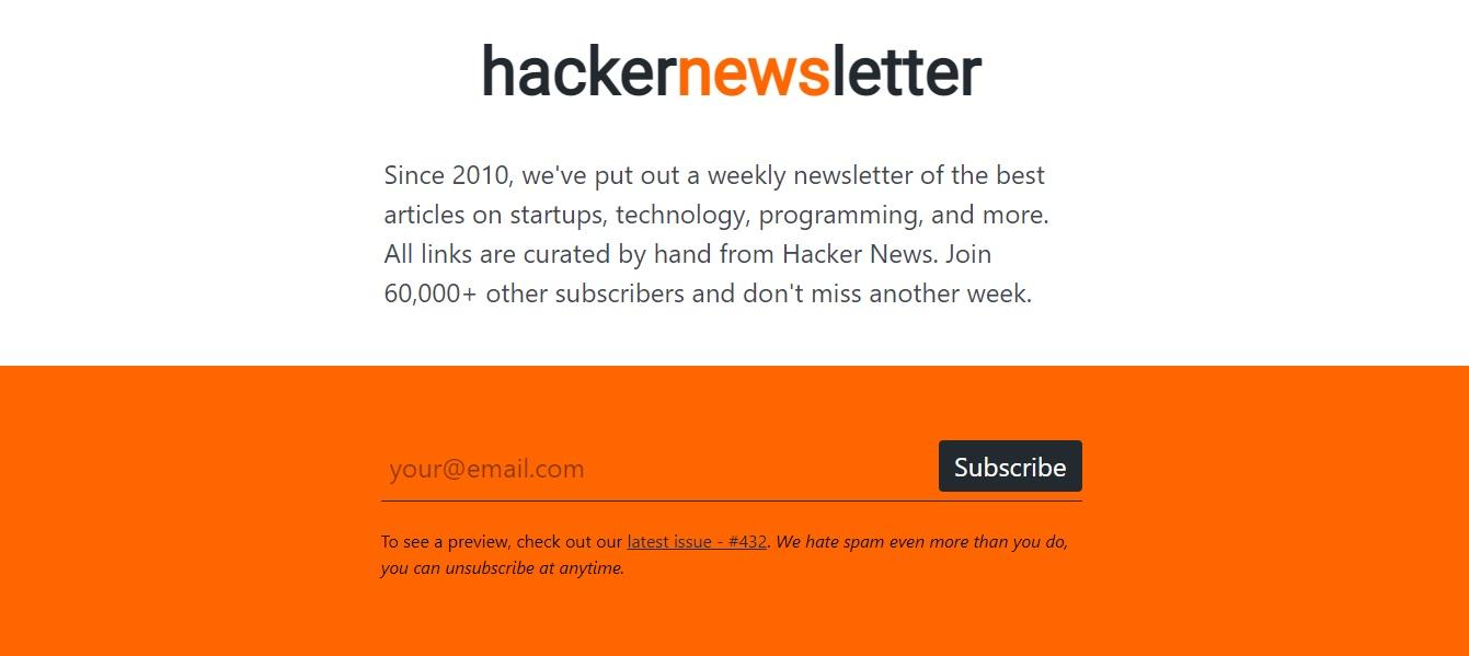 Hackernewsletter